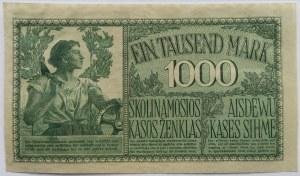 Polska/Niemcy, 1000 marek 1918 OST, UNC, seria A