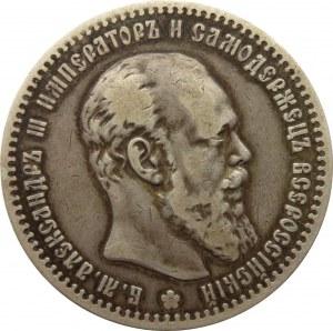 Rosja, Aleksander III, 1 rubel 1890 AG, Petersburg