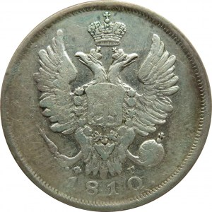 Rosja, Aleksander I, 20 kopiejek 1810 FG, Petersburg, rzadszy rocznik (R)
