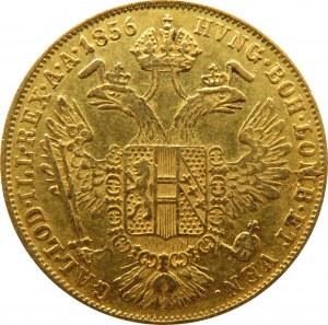 Austria, Franciszek Józef I, dukat 1856, Wiedeń, ładny egzemplarz