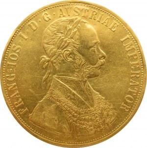 Austro-Węgry, Franciszek Józef I, 4 dukaty 1894, Wiedeń, rzadkie