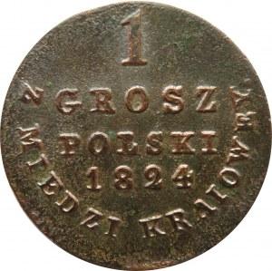 Aleksander I, 1 grosz 1824 I.P. z miedzi krajowej, Warszawa
