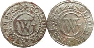 Prusy/Rzeczpospolita, Jerzy Wilhelm zestaw 2 szelągów 1626, 1629, Królewiec