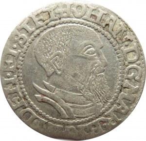 Śląsk/Marchia Brandenburska, Jan I Kostrzyński, grosz 1544, Kostrzyn