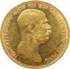 Austro-Węgry, Franciszek Józef I, 20 koron 1908, emisja jubileuszowa 60 lat panowania cesarza, UNC-