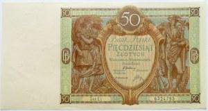 Polska, II RP, 50 złotych 1929, seria EI, UNC-