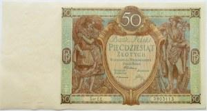 Polska, II RP, 50 złotych 1929, seria EŁ, UNC-