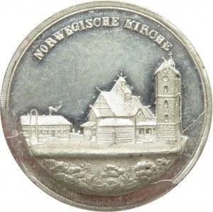 Polska/Niemcy, medal-pamiątka z Karkonoszy, Norweski Kościół (Świątynia Wang)