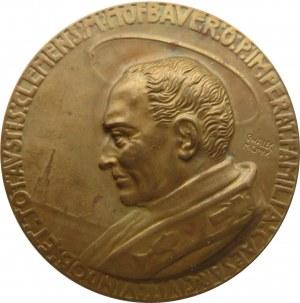 Polska/Czechy/Austria - medal kanonizacyjny C.M. Hofbauera, brąz, rzadki