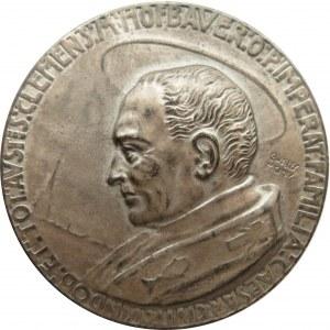 Polska/Czechy/Austria - medal kanonizacyjny C.M. Hofbauera, srebro, rzadki