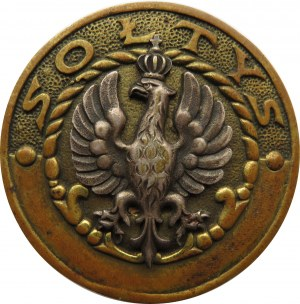 Polska, II RP, odznaka sołtysa, wyk. Bracia Łopieńscy, sygnowana