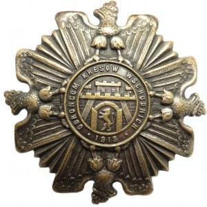 Polska, II RP, Odznaka Obrońcom Kresów Wschodnich, numerowana, wzór 1, wyk. Knedler, sygnowana