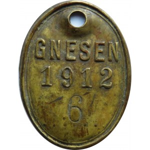Polska/Niemcy, Gniezno (Gnessen), psi numerek 6 -1912, rzadki