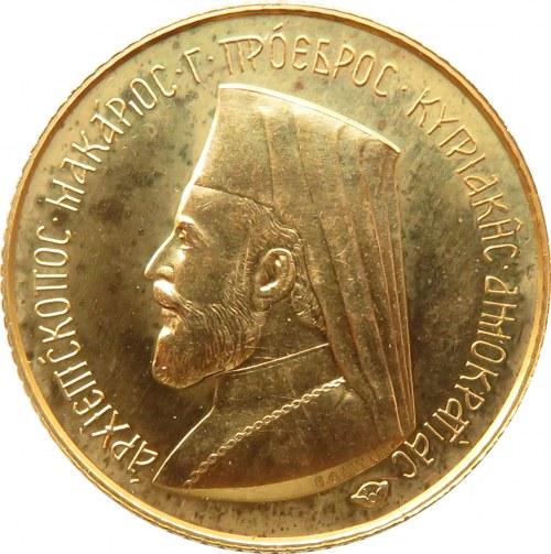 Cypr, Arcybiskup Makarios III, 1 funt 1966, UNC