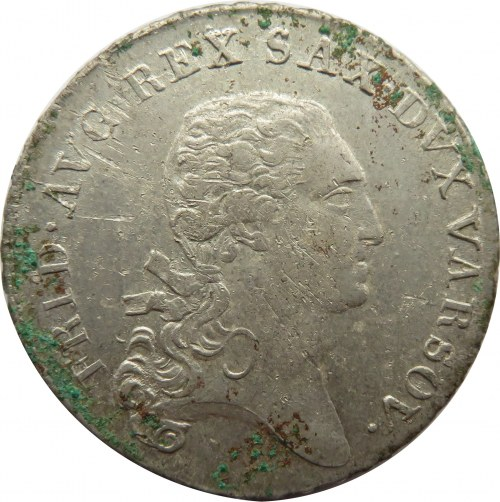Księstwo Warszawskie, 1/3 talara (dwuzłotówka) 1811 I.S., ładne