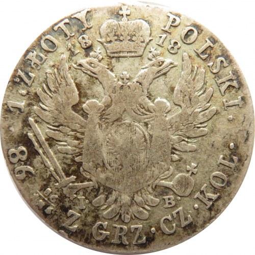 Aleksander I, 1 złoty 1818 I.B., Warszawa