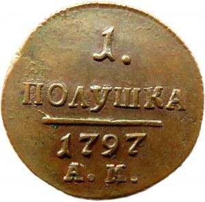 Rosja, Paweł I, połuszka 1797 A.M., Amieńsk, ładna
