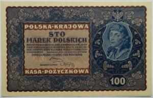 Polska, II RP, 100 marek 1919, IE seria S, UNC