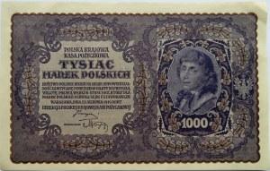 Polska, II RP, 1000 marek 1919, III seria A, piękne!