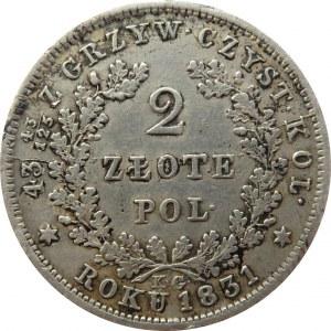 Powstanie Listopadowe, 2 złote 1831 K.G., Warszawa