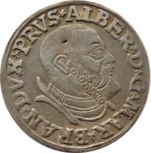 Prusy Książęce, Albrecht, trojak 1537, Królewiec