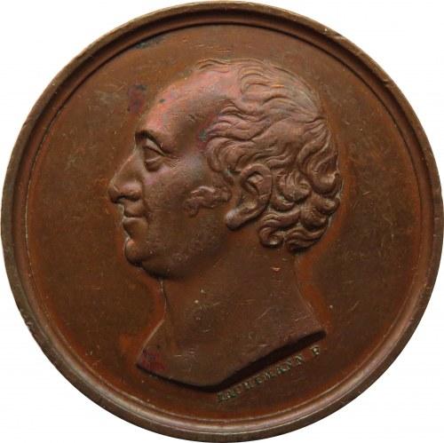 Polska, XIX wiek, Poznań, Zerboni do Sposetti 1825, medal Iachtmanna, rzadki