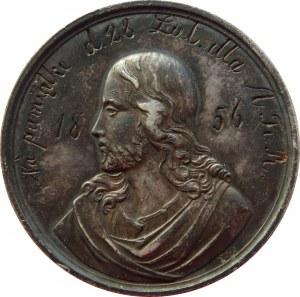 Polska, medal chrzcielny z 1856 roku, srebro
