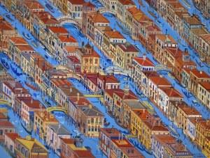Edward Dwurnik (1943-2018), Wenecja, 1997, 50 x 70 cm (duży format)