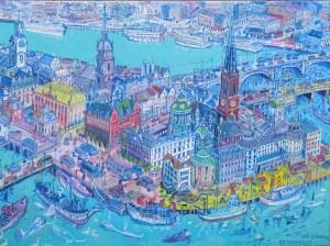 Edward Dwurnik (1943-2018), Sztokholm, 2006, 50 x 70 cm (duży format)