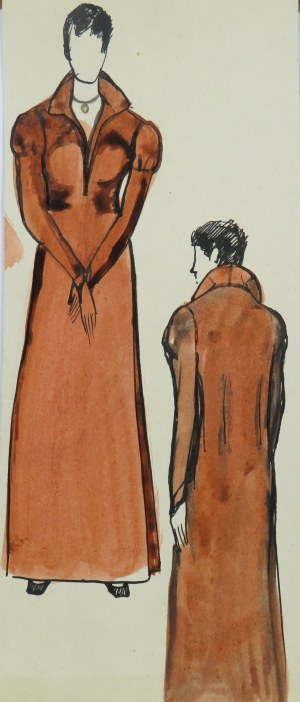Ludwik Antoni Maciąg (1920-2007), Kobieta w kostiumie historycznym - szkice