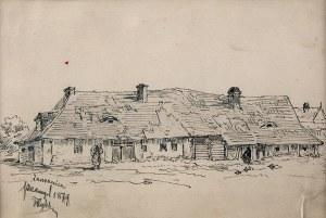 Tadeusz Rybkowski (1848-1926), Wiejska chata, 1879