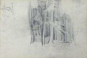 Włodzimierz Tetmajer (1861 - 1923), Wnętrze lasu - szkic, 1907