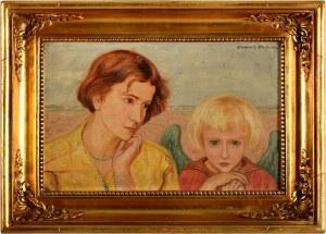 Wlastimil Hofman (1881 Karlino K. Pragi - 1970 Szklarska Poręba), Scena alegoryczna z aniołem