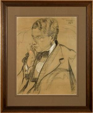 Stanisław Ignacy Witkiewicz (1885 Warszawa - 1939 Jeziory ), Portret Jerzego Rożniewicza, 1918