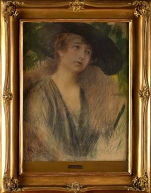 Teodor Axentowicz (1859 Braszów, Rumunia - 1938 Kraków), Dama w kapeluszu