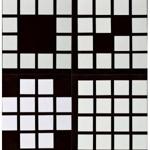 Gerard Jürgen Blum-Kwiatkowski (1930 Faulen - 2015 Hünfeld ), Układ zamknięty - zestaw czterech prac