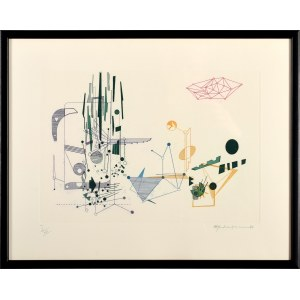Roman Ramati-Haubenstock (1919 Kraków - 1994 Wiedeń), Struktura barwna, 1972