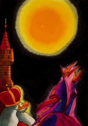 Jerzy Flisak (1930 - 2008), Komplet ilustracji do bajki Lusteryk z krainy światła, 16 ilustracji