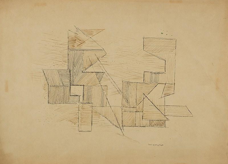 Adam Marczyński (1908 - 1985),Kompozycja geometryczna