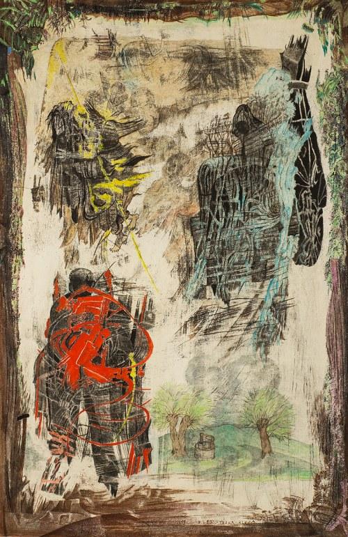 Danuta Leszczyńska-Kluza (ur. 1926 l)Piorun - ogień i woda, 1999 r.
