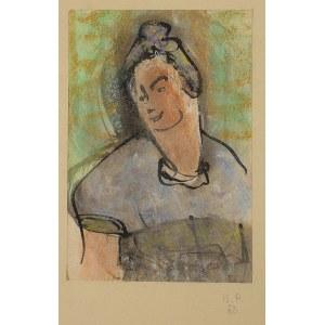 Bronisława Piprek, Portret kobiety z kokiem, 1953 r.