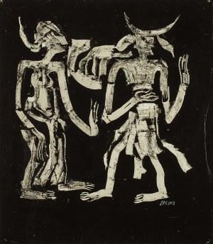 Roman Opałka (1931 - 2011), Ilustracja (dwie postaci), ok. 1965 r.