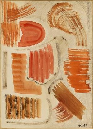 Hanna Krzetuska-Geppert (1903–1999), Kompozycja abstrakcyjna, 1969 r.