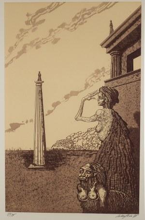Jan Lebenstein (1930 – 1999), Kobiety i obelisk, 1985 r.