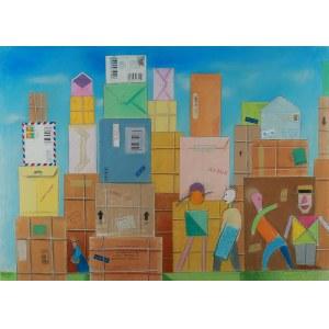 Andrzej Dudziński (ur. 1945 Sopot), Cała poczta Manhattanu, 1995 r.