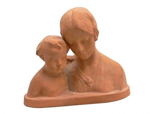 Popiersie matki z dzieckiem