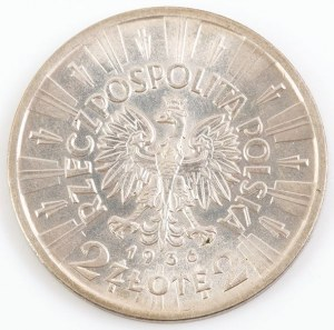 2 ZŁOTE 1936, kopia, Mennica Państwowa, 1988