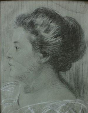 Teodor Axentowicz (1859-1938), Portret kobiety