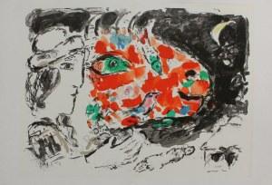 """Marc Chagall (1887-1985), Po zimie(""""Derrière le Miroir"""" no 198, 1972, Mourlot #651)"""