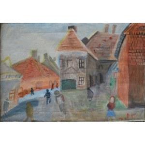 Doren Heaton-Potworowska (1930-2014), Pejzaż miejski (1966)